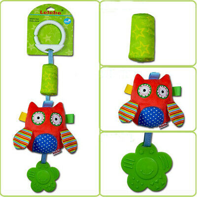Kids Carriage Pendant Owl Wind Chime Rattle Bed Bell Rabbit Plush Baby Toy DM