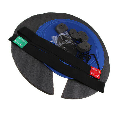 Set of 7 Professional Drum Set Rubber Mute Silencer Pad Practice Pads Size B