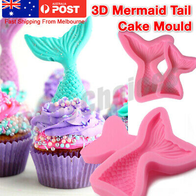 3D Mermaid Tail Mold Scale Silicone Fondant Cake Mould Decor Sugar Chocolate Jel
