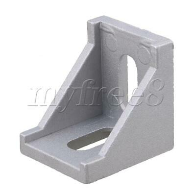 40x40x35mm Grey Aluminum Right Angle L Shape Corner Joint Brackets Pack of 10