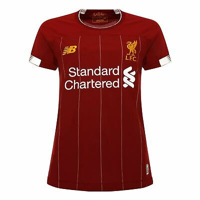 Liverpool FC Home Kit Red Polyester Womens Football Shirt 19/20 LFC Official