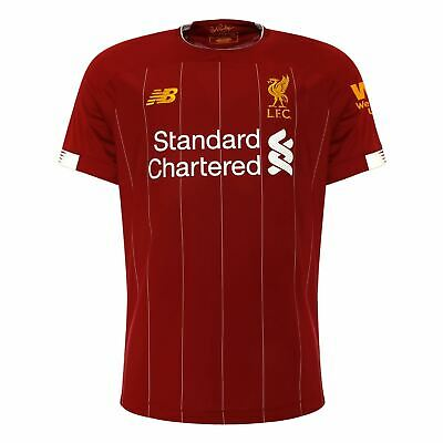 Liverpool FC Home Kit Red Short Sleeve Mens Football T-Shirt 19/20 LFC Official
