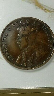 1911 Canada Large Cent 1c Penny King George