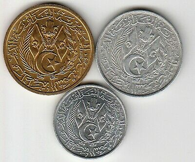 3 different world coins from ALGERIA