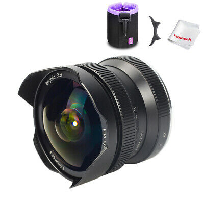 Brightin Star 7.5mm f/2.8 Ultra-Wide Fisheye Manual lens for APS-C SONY E-mount