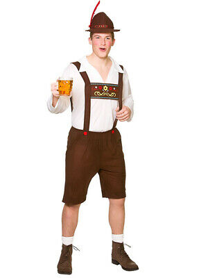 Mens Oktoberfest Bavarian German Beer Festival Fancy Dress Costume S - XL Adults