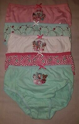 5  Pack LOL Suprise Girls Briefs Knickers Underwear 5-10 Yrs