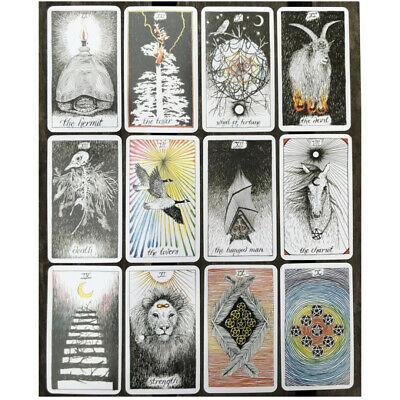 78Pcs The Wild Unknown Tarot Deck Card Waite Fortune Telling Cards Set 103x60mm