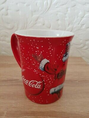 Coca Cola Large 3D Embossed Ceramic Mug With Iconic Santa Christmas 2018 Gift