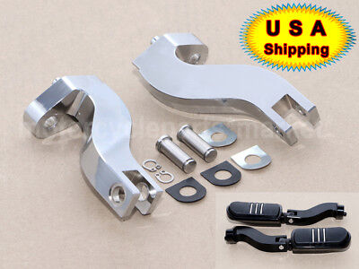 Chrome Rear Footpeg Mounting Kit for Most 1980-2007 Harley Touring Bikes-$259