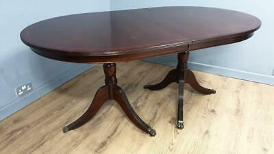 Vintage Heirloom Style Mahogany Dining Table With Tripod Legs And Claw Feet
