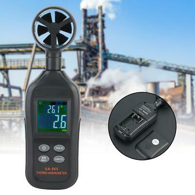 UA965 Mini LCD Wind Speed Gauge Air Velocity Meter Digital Anemometer