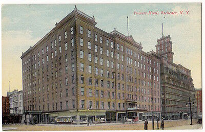 Rochester New York c1910 Powers Hotel, vintage postcard