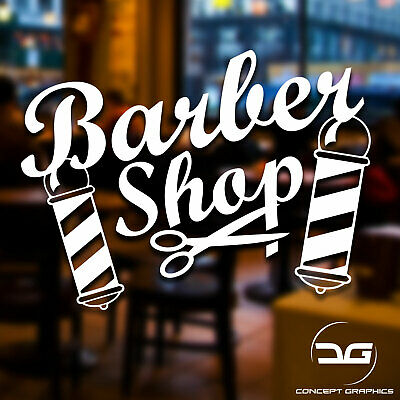 Barber Shop Scissors Hair Dressing Salon Window Door Vinyl Decal Sticker Sign