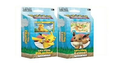 Pokemon Lets Play Pikachu/Eevee Theme Deck Display combined PRE ORDER TODAY