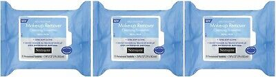3 Pk Neutrogena Makeup Remover Cleansing Towelettes, Refill Pack, 25 Count Ea