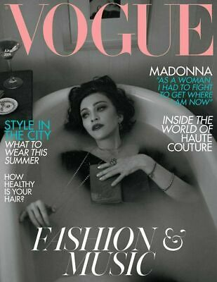 BRITISH VOGUE magazine June 2019 - Madonna cover and interview