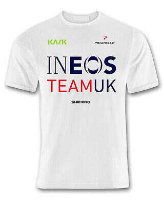 Ineos team cycling fan t shirt white
