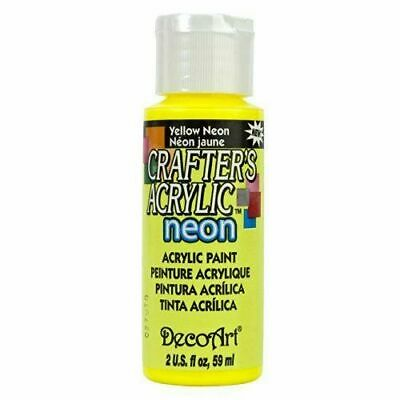 DECO ART DCA131 CRAFTERS ACRYLIC YELLOW NEON 2OZ (6pk)