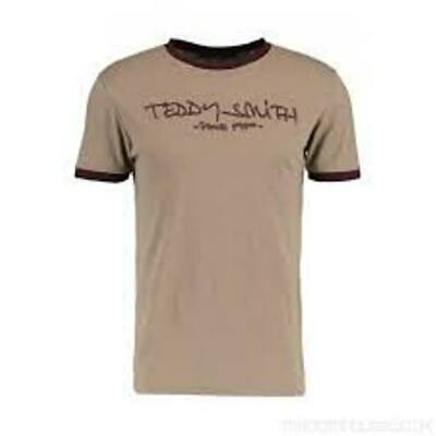 Teddy Smith T Shirt Large Beige BNWT