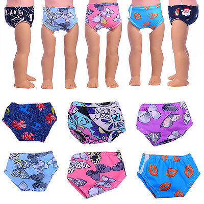 Floral Pants Underwear Clothes Fashion for 18inch Girls Doll Toy Handmade Nice