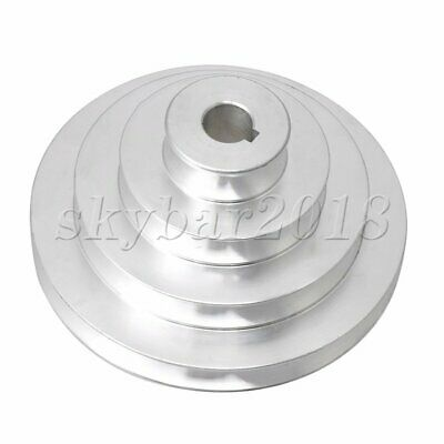41 to 130mm Bore V groove 4 Step Pagoda Pulley Belt Aluminum