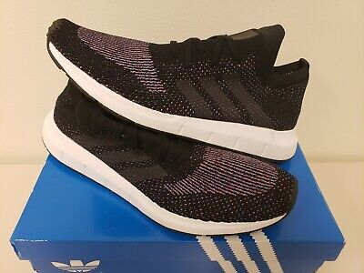 7eb9da76c Adidas Swift Run Pk Black White Shoes Men Sz 11 Cq2892 Sneakers 3 Stripes