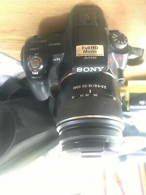 Sony alpha SLT-A33  10.2mp Camera Bundle