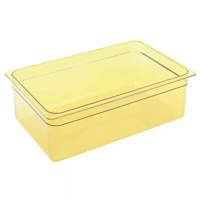 Cambro 16HP150 H-Pan Amber High Heat Full Size Food Pan (6 per case)