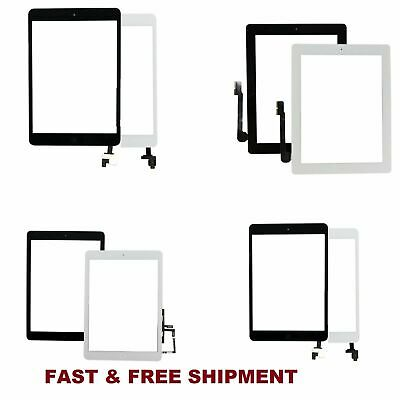 LOT For iPad 2 3 4 Air Mini 1 2 3 Touch Screen Digitizer Replacement w/ Adhesive