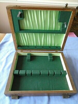 Large Vintage  Oak Wood  Canteen Of Cutlery Box Wooden Storage Display Box