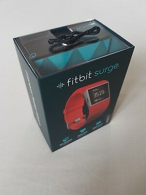 New Fitbit Surge Fitness Super Watch GPS Tracking Heart Rate TANGERINE LARGE
