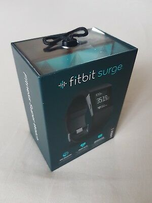 Brand New Fitbit Surge Fitness Super Watch GPS Tracking Heart Rate BLACK LARGE