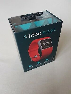 New Fitbit Surge Fitness Super Watch GPS Tracking Heart Rate TANGERINE SMALL