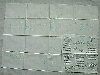 Vintage Cameo Fabric Painting/Punch Needle Patterns On Fabric Quilt Block New