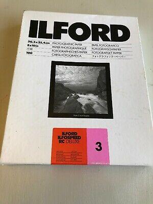 "Ilford Ilfospeed RC Deluxe 3 8""x10"" 100 Sheets Photographic Paper (0112)"