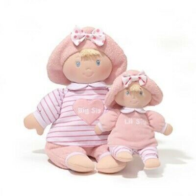 Baby Toy Doll Big and Lil Sis 2 in 1 Toys by Gund Plush Soft Toys Dolls New 25cm