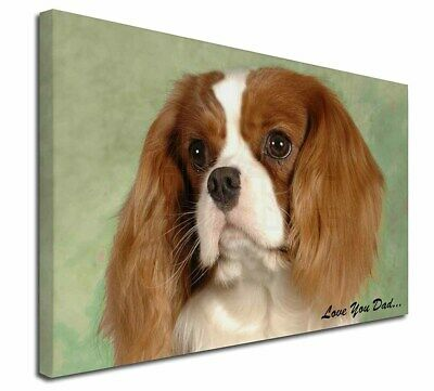 """Cavalier King Charles 'Dad' 30""""x20"""" Wall Art Canvas, Extra Large , DAD-115-C3020"""
