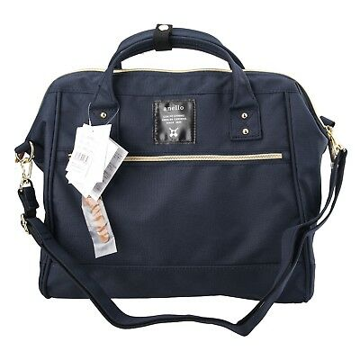 Navy Blue Anello (Large) Japan Women Shoulder Top-Handle Cross Body Bag