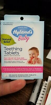 Original Hyland's Baby Natural Teething Tablets Fast Relief 135 Dissolving Tabs