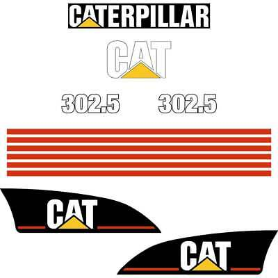 Cat 302.5 decals stickers kit laminated repro kit