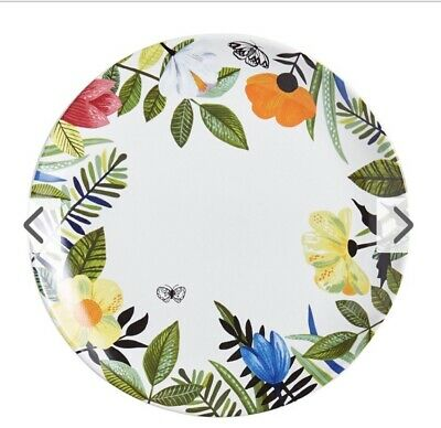 Pier 1 Imports NWT Easter Spring MODERN FLORAL DINNER PLATE