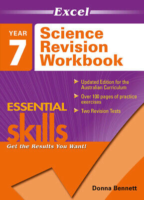 Excel Essential Skills - Science Revision Workbook Year 7 NEW 9781740200837