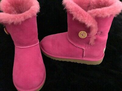 6dc9282daf3 UGG AUSTRALIA HOT Pink Genuine Leather-Sheeoskin Lining Ankle  Boots-NWOB-Size 3