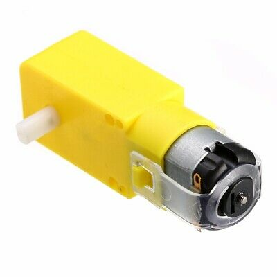 Smart Car Robot Plastic Tire Wheel with DC 3-6V Gear Motor for Robot Arduino New