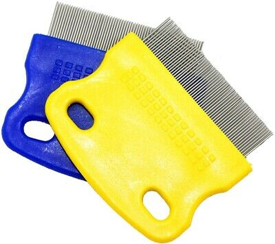 Pet Fine Toothed Flea Comb Cat Dog Grooming Steel Small Brush