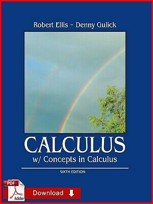 {PDF} Calculus w/ Concepts In Calculus Sixth Edition By Gulick & Ell {Eb00k-PDF}