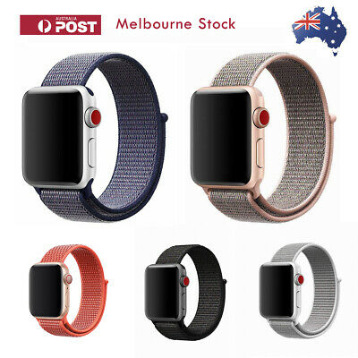 Nylon Band Sport Loop Woven Replacement Strap for Apple Watch Series 4 3 iWatch