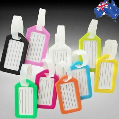 10x Luggage Tags Suitcase Label Name Address ID Bag Baggage Travel Tag HLTAG01MI