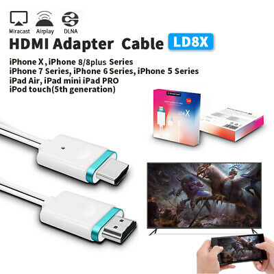 HDMI HD TV Adapter Digital AV to HDMI 1080P Cable for iPhone Ipad Plug and Play